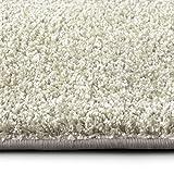 casa pura Shaggy Teppich Bali | weicher Hochflor Teppich für Wohnzimmer, Schlafzimmer und Kinderzimmer | mit GUT-Siegel | Verschiedene Größen | viele Moderne Farben (250 x 300 cm, Creme)
