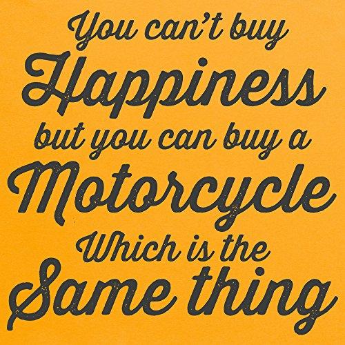 Motorcycle Happiness T-Shirt, Herren Gelb