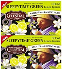 Celestial Seasonings, Green Tea, Decaf, Sleepytime, Lemon Jasmine, 1.1oz Box (Pack of 3) (Pack of