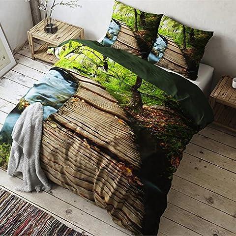 Housse De Couette 220 Nature - Housse de couette lit 3d Nature Parure