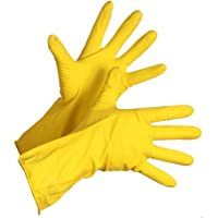 Fortane Reusable Rubber Cleaning Gloves Set | Hand Gloves Free Size for Washing, Cleaning Kitchen, Gardening Pair of (1) (Color May Vary)