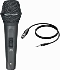 "MX Dynamic Mic Cardioid Vocal Multi-Purpose Plastic Microphone XLR to1/4"" Cable"