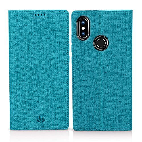 Eastcoo Xiaomi Mi A2 Hülle, Flip Folio Wallet Leder Smart Case Tasche Schutzhülle Handyhülle mit [Wake up][Standfunktion][Magnetic Closure] für Xiaomi Mi A2 (Mi A2, Blue)