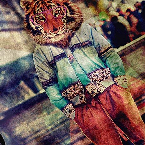 DJ Rave Tiger Maske Wild Stil Damen Schwarz S-2XL Muskelshirt | Wellcoda Marine