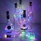 WELSUN 4Pcs LED Starry String Lights Nacht Solar Weinflasche Cork Shaped Fairy Lights Lampe für Garten, Hochzeit und Xmas Party