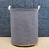 Questquo Foldable Large Storage Laundry Hamper Clothes Baskets Sorter Canvas Laundry Washing Bag Size #6