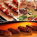 Dango 6 x Grill- und Backmatten + Grillzange + Silikonbürste zum Backen auf Gas-, Holzkohle-, Ofen- und Elektrogrills – wiederverwendbar, antihaftbeschichtet und leicht zu reinigen