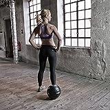 Profi Medizinball Kunstleder in verschiedenen Gewichten; 2 kg, 3 kg, 4 kg, 5 kg, 7 kg, Farbig (3 kg (Gelb)) - 6
