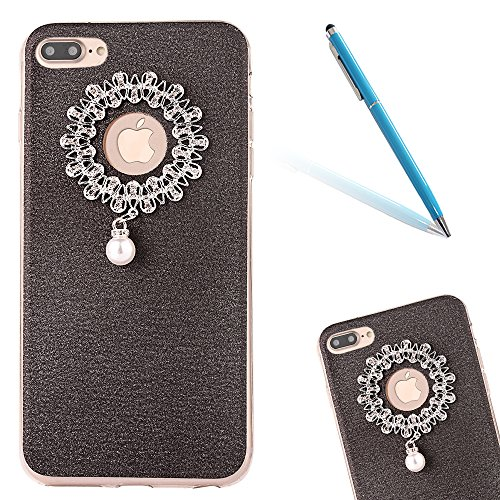 "iPhone 7Plus Handyhülle, iPhone 7Plus Tasche, CLTPY Elegante Sparkly Series Slim Fit Silikon Cover, Kreativ Bling Diamant Bowknot Design Abdeckung für 5.5"" Apple iPhone 7Plus (Nicht iPhone 7) + 1 x St Schwarz 2"
