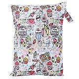 Bolsa para pañales de pañales de tela impermeable y mochila para bebé de gran capacidad para bebé con cremallera para bebé niño niños adultos(#1)