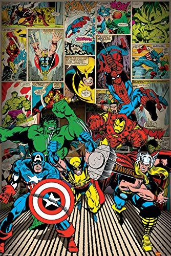 Marvel Comics \'Hier die Helden kommen\' Maxi Poster,61 x 91.5 cm
