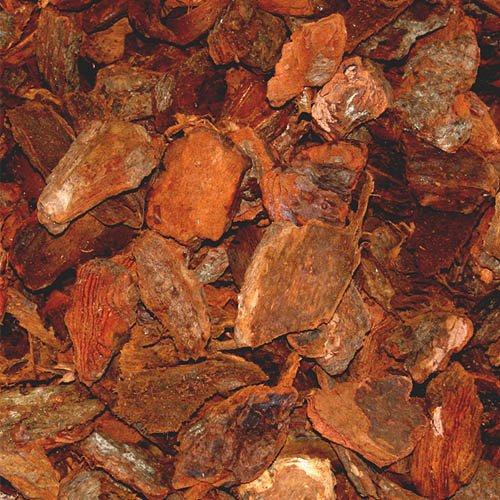PALIGO Pinienmulch Pinienrinde Rindenmulch Pinie Mulch Garten Dekor Pinus Pinea Natur Mittelmeer Kiefer Deko 40-60mm 70l x 36 Sack 2.520l / 1 Palette Galamio® (G30 Eisen)