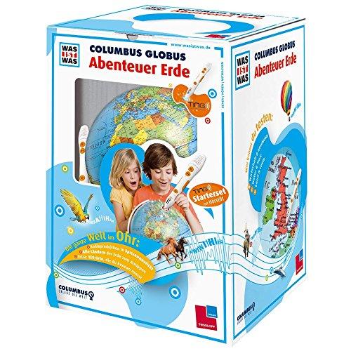 T273467SET Abenteuer Erde Globus inkl. ting-Stift, Starterset: Abenteuer Erde Globus, beleuchtbar, ting Version