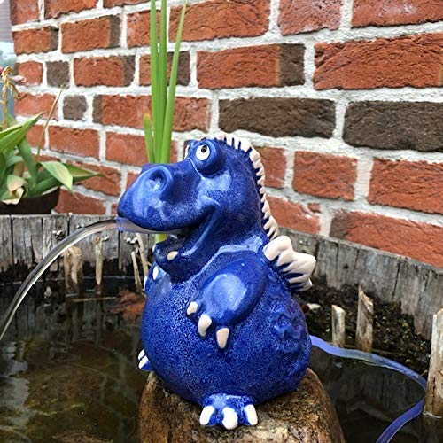 Gartenzaubereien Wasserspeier Drache blau