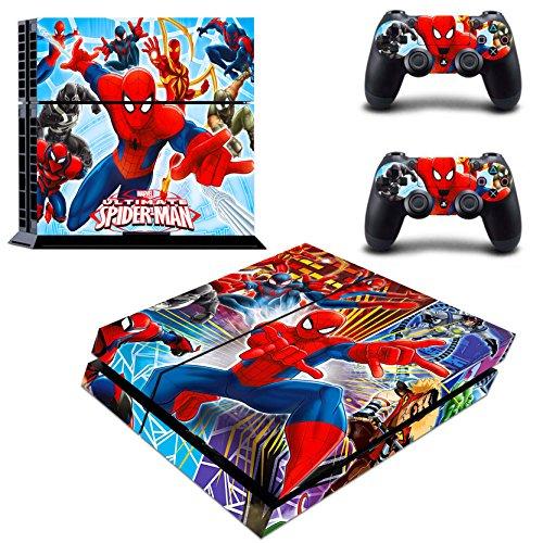 Vanknight Vinyl-Aufkleber für PS4 Konsole Playstation 2 Controller Spider-Man