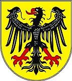 Michael & Rene Pflüger Barmstedt - Autoaufkleber Aachen Wappen Schild Aufkleber Sticker fürs Auto Motorrad