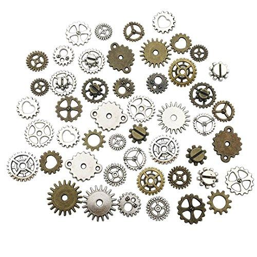 eampunk Uhr Zahnrad Zahnrad Anhänger Charms Schmuckherstellung DIY Steampunk Getriebe Anhänger Charms Großhandel Mini Gear ()