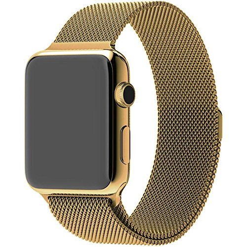 Diamond Cover 515525 High Class Brilliance Apple Watch 38mm Brilliance black 24k gold und Zirkonia