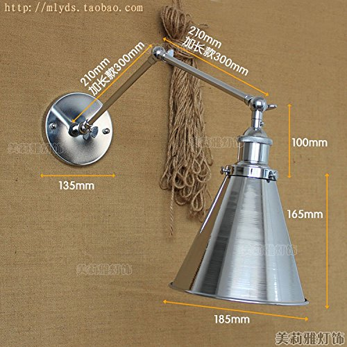 GaoHX Light Ferro Battuto Creativa Vintage Doppia Parete Country Americano