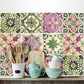 12 Pieces 15×15 cm – PS00061 Adhesivo Decorativo para Azulejos para baño y Cocina Stickers Azulejos – Made in Italy – Stickers Design