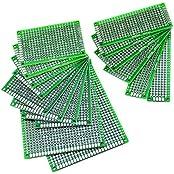 Mudder 16 Stück doppelseitig Prototype Lochrasterplatte Lochrasterplatine Leiterplatte Platine PCB universal Board für DIY, Verschiedene Größen