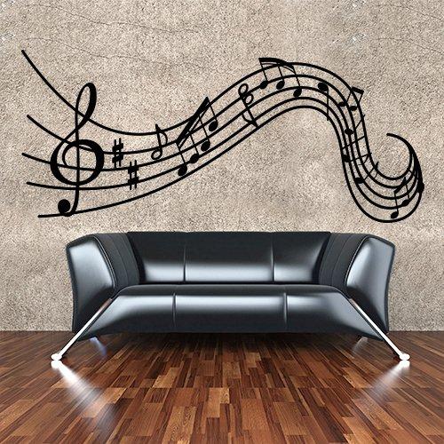 Adesivo-murale-Wall-Art-Pentagramma-elegante-Misure-100x43-cm-Decorazione-parete-adesivi-per-muro-carta-da-parati