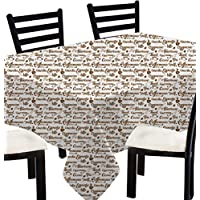 Indiano stampato piazza tovaglia -100% tovaglia di stampa tazza di tè di cotone quadrati asiatico brown -140 x 140 cm