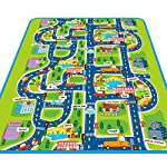 Baby Crawling Mat, Kids Carpet Playmat Rug City Life Great For Playing With Cars and Toys Play Learn and Have Fun Safely Kids Baby, Children Educational Road Traffic Play Mat For Bedroom Play Room