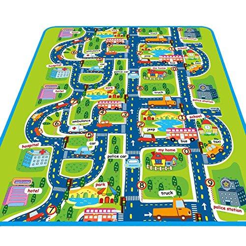 Alfombra infantil Juego Alfombra, ideal para jugar con coches y juguetes Jugar, aprender y divertirse...