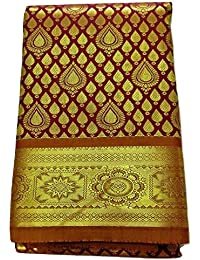 Ethnic Indian Women's Pattu Silk Saree With Zari Border And Blouse (New Collection, Latest Design)