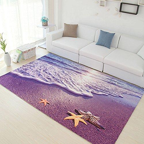 3d in stile country con balcone divano tappeto tappeti tavola letto camera da letto e stanza da bagno antiscivolo zerbino custom 500×800mm, spiaggia