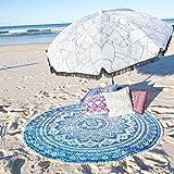 Heyrumbh Handicrafts 72'' Blue Color Ombre Mandala Round - Best Reviews Guide