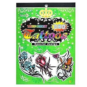 Gifts 4 All Occasions Limited SHATCHI-1012 No. 16 - Bolsa de tatuajes temporales para fiestas, impermeable, no tóxica, multicolor