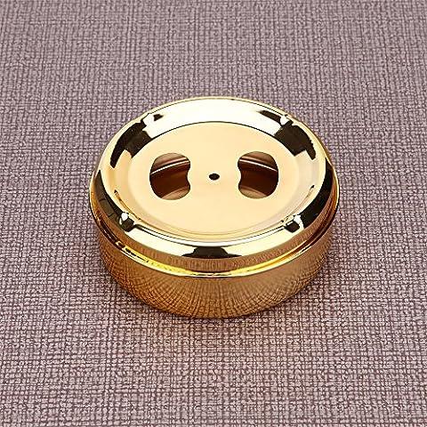 Retro style européen en acier inoxydable couvercle en métal d'or, gold cigarette cendrier windy 12 * 4 CM
