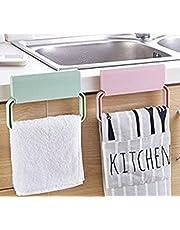 Divinext Self-Adhesive Plastic Towel Clothes Hanger|Multicolor
