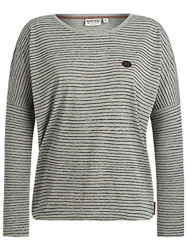 Naketano Female Sweatshirt Zeich ma Titten gun smoke grey melange