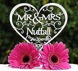 personalisierbar MR & MRS Hochzeit Tortenaufsatz