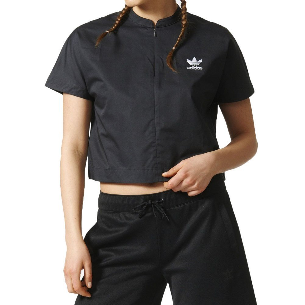 Adidas Ip Boxy Top, Maglietta Donna, Grigio (Carbon), 36