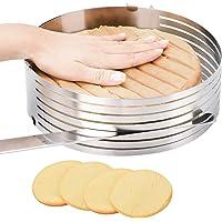 Moule à gâteau réglable, cercle à gâteau-mousse en acier inoxydable 23 cm à 30,5 cm