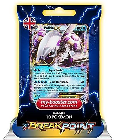 PALKIA EX 31/122 180HP XY09 BREAK POINT (Turbofieber) - Booster mit 10 Englisch Karten Pokemon