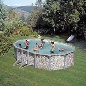 Pool stahlwand steinoptik garten for Pool in steinoptik