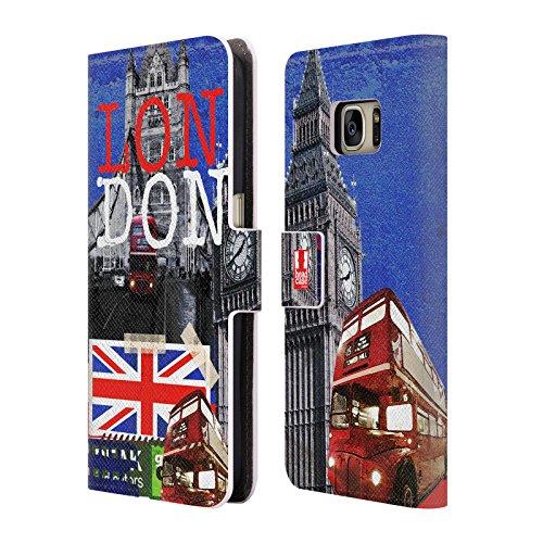 Head Case Designs Police Box I Love London Brieftasche Handyhülle aus Leder für Samsung Galaxy S5 mini Gipfel