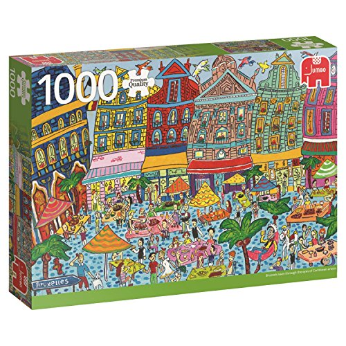 Jumbo- Sightseeing pcs Brussels Grand Place, Puzzle de 1000 Piezas (618562)