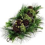Idena 8220314 Deko Zweige Weihnachts Kegel 65 cm, Plastik, grün, 56,2 x 28,6 x 15,4 cm