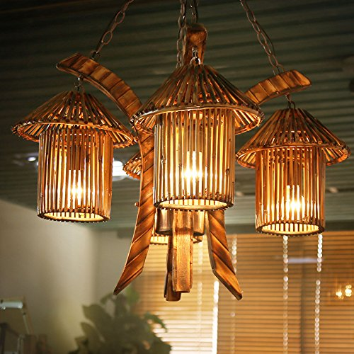 Suspensions Créative/Asie du sud-est/ferme/natural bambou lampe rétro ferme/restaurant café bar restaurant/lustres/lampes
