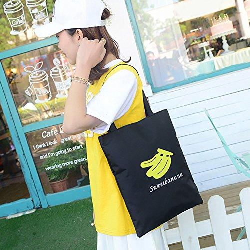 sundatebe, Borsa tote donna White Banana taglia unica Black Banana