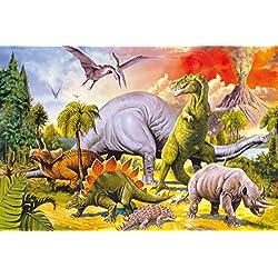 Dinosaurios - Collage, Dino-Land Fotomural Autoadhesivo (180 x 120cm)