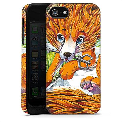 Apple iPhone X Silikon Hülle Case Schutzhülle Fuchs Zeichnung Orange Tough Case matt