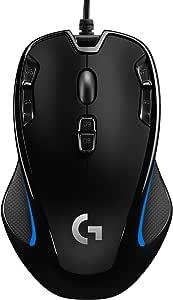 Logitech G300s Mouse Gaming Ottico, 2500 DPI, RGB, Design Leggero, 9 Pulsanti  Programmabili, Memoria Integrata, per Entrambe le Mani, Compatibile con PC/Mac/Laptop, Nero