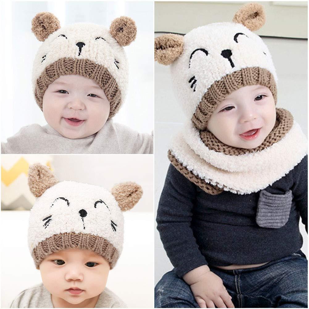 VBIGER Beanie Bambino Cappello Inverno Bambino Sciarpa Inverno Bambino Cappello Bambini Cappelli Invernali Bambino Cappello Beanie Bambino
